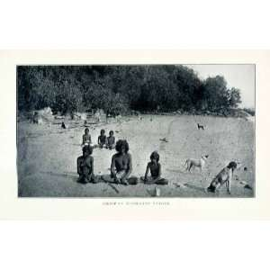 1902 Print Australian Aborigines Natives Indigenous People