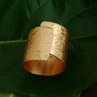 24K SOLID YELLOW GOLD DESIGNER WIDE RING BY OMER **FREE SIZING ON OUR