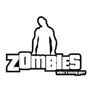 Zombie   Whats Eating You funny Vinyl Die Cut Decal Sticker 7 Black