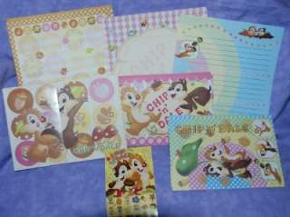 50 Sheets Disney Chip n Dale Volume Stationary Letter Set #2