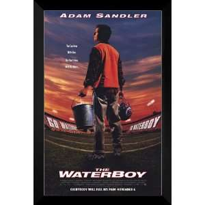 The Waterboy FRAMED 27x40 Movie Poster Adam Sandler Home & Kitchen