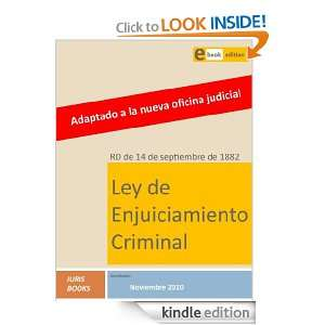 Ley de Enjuiciamiento Criminal (Spanish Edition) Iuris Books