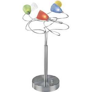 Wiggly Multi Colored Table Lamp