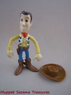Disney Toy Story WOODY PVC FIGURE w Removeable Cowboy Hat Poseable
