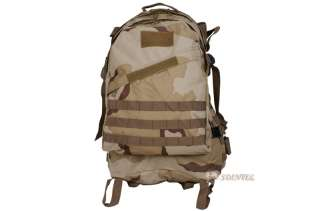 MILITARY COMBAT BACKPACK RUCKSACK HIKING CAMPING BAG CAMOUFLAGE 35L 3D
