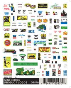 Woodland Scenics 570 Product Logos Dry Transfer Decal