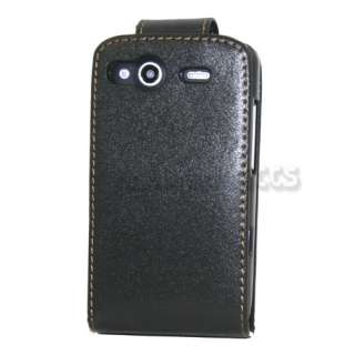 Black Flip Leather Case Cover Skin Pouch Shell for HTC Salsa C510e G15