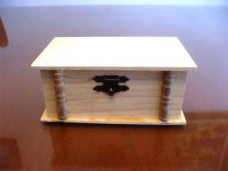 Unpainted Plain Natural Hinged Wood Wooden Box for Crafts Crafting 5