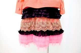 MANOUSH Coral Pink Embellished Peplum Dress, NWD (36)