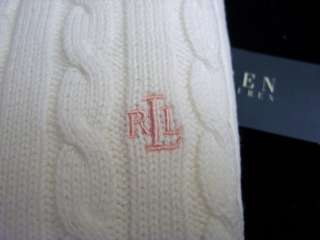 Ralph Lauren Polo Women Sweater Cable Knit Crewneck Cotton Long Sleeve