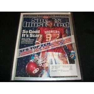 Tommie Harris Signed 8/12/02 Sports Illustrated JSA Q   Autographed