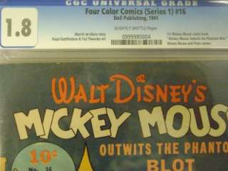 Four Color #16 CGC 1.8 1st MICKEY MOUSE Walt Disney