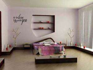 SO IN LOVE WITH YOU Home Bedroom Vinyl Wall Decal 24