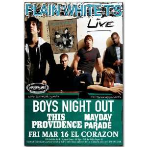 Plain White Ts Poster   Concert Flyer   Every Second