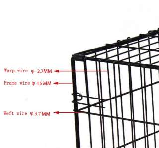 New 42 3 Door Folding Pet Dog Cage Crate Kennel with Divider