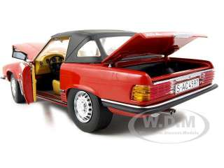 1977 MERCEDES 350 SL CLOSED CONVERTIBLE 1/18 RED DEFECTIVE