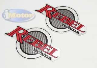 Motorcycle Gas Tank Decals Emblem Stickers for Honda Rebel CMX250C