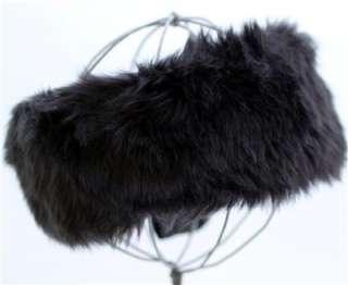 Black Faux Fur Headwrap Headband Winter Head Wrap Head Band D&Y David