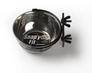 SNAPY FIT DOG PET CRATE WATER FEED BOWL SIZE 10oz NEW
