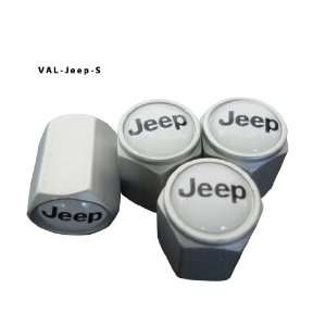 AGT Aluminum Silver Valve Caps Tire Cap Stem for Jeep Wheels (Pack of