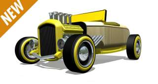 Mini Yellow Hot Rod HR2 Wood Toy New Box 55113 NEW 896514000113