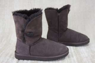 NEW UGG Australia Womens Bailey Button Boots 5803 Chocolate Suede