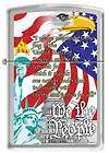 Southern Pride American Confederate Rebel Flag Polished Chrome Zippo