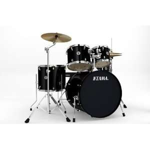 Tama Swingstar Standard 5 piece Drum Set   Black: Musical