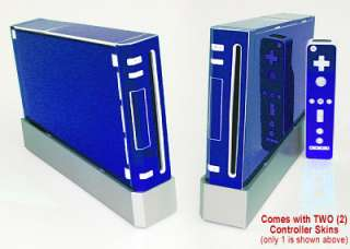 BLUE CHROME SKIN for Nintendo Wii system mod remote kit