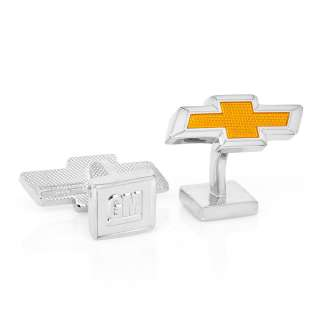 GM Orange Chevy Bowtie Logo CUFFLINKS GM CHV ORG Auto Car Cuff Links