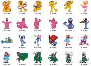 Personalized SESAME STREET Birthday Favor Tags
