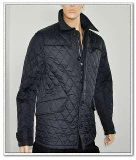 NWT BURBERRY Mens Nova Check Quilted Jacket Coat Black $795