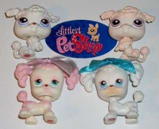 DOG LOT~#17 255 390 101 PINK WHITE HAIR~Littlest Pet Shop S40