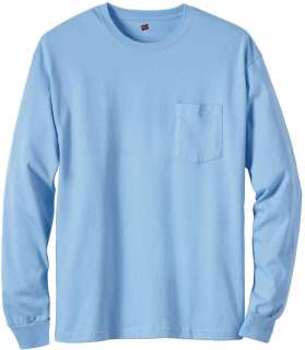 HANES TAGLESS 6.1 Long Sleeve w/ Pocket   5596