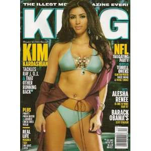 King Magazine October 2007 Kim Kardasian: King magazine: