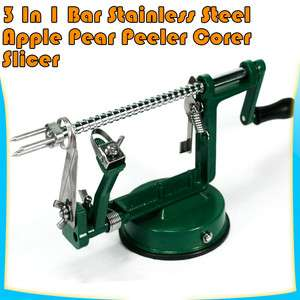 Home Apple Peer Fruit Photato Slicer Peeler Corer Kitchen Chef  Green