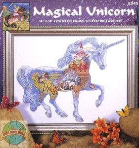 Cross Stitch Kit ~ Magical Unicorn Fairy Tale Castle