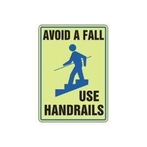 SLIPS TRIPS AND FALL AVOID A FALL USE HANDRAILS (W/GRAPHIC
