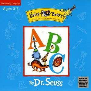 DR. SEUSS ABC PC & MAC GAME AGES 3 7 LIVING BOOKS NEW
