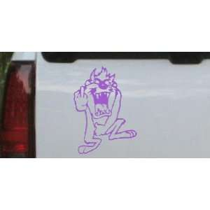 Taz bird Cartoons Car Window Wall Laptop Decal Sticker    Purple 26in