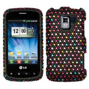 For LG Enlighten Optimus Q Slider Crystal Diamond BLING Case Cover