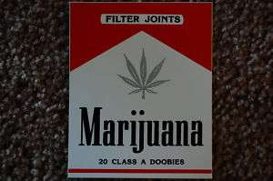 Marijuana Weed 420 Pot Funny Sticker Decal (S S)