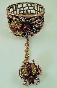 Kirks Folly Spider Slave Bracelet   ring & extender   can be used for