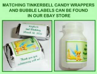 20 TINKERBELL BIRTHDAY PARTY FAVORS ~ WATER BOTTLE LABELS