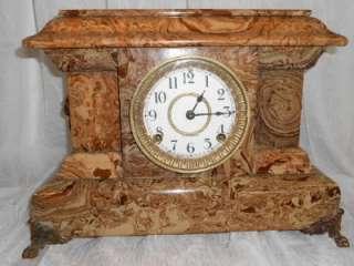 Old Antique Seth Thomas Adamantine Mantel Shelf Clock Circa 1889