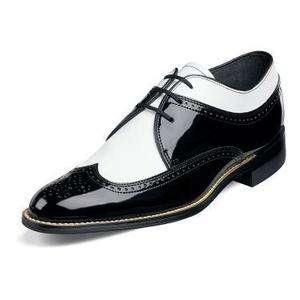 Stacy Adams Mens Dayton Black & White Dress Shoe 00605