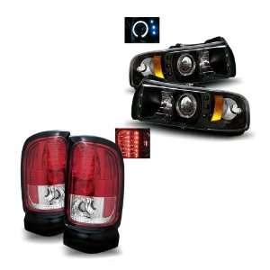 Dodge Ram 1500/2500/3500 Black LED Halo Projector Headlights 1PC + LED