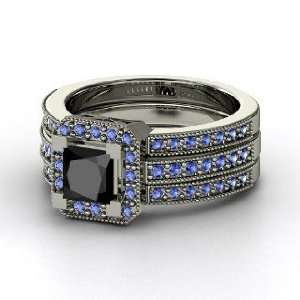 Va Voom Ring, Princess Black Diamond Platinum Ring with
