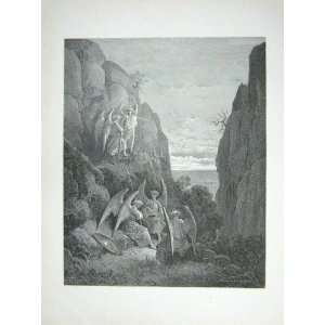 1881 Gustave Dore Paradise Lost Angels Winged Cliffs