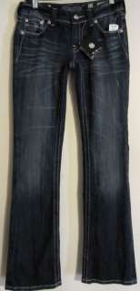 MISS ME Swirl Cross Boot Cut Jeans NWT Size 27